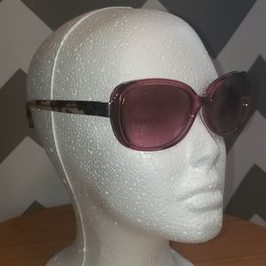 Coach purple tortoise shell sunglasses